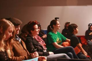 A shot of the audience, enjoying some poetry!