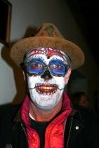 Audience member in calavera style makeup.