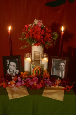 Altar dedicated to Anne Sexton and Octavio Paz.