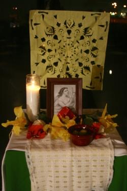 Altar dedicated to Sappho.