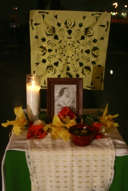 Altar dedicated to Sappho.