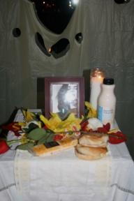 Altar dedicated to Maggie Estep.